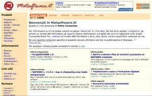 Screenshot www.matsoftware.it - dicembre 2008