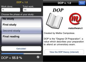 DOP v. 1.0 screenshot (versione internazionale)