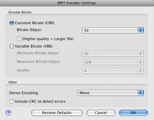Switch - impostazioni MP3