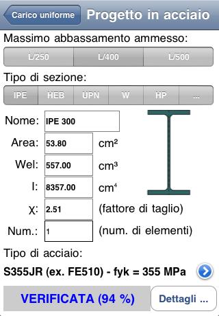 Progetto in acciaio (esempio) - Statics 1.4