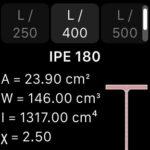 Statics su iWatch - progettazione di travi